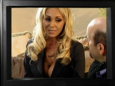 Blonde porno Star Boob Tease